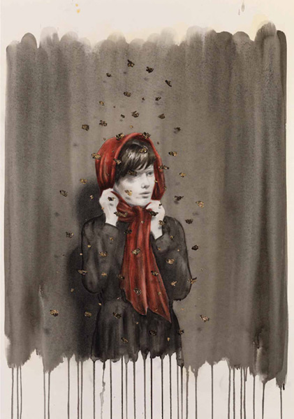 Red Scarf by Rachel Goodyear