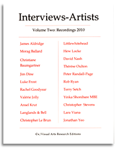 interviews with artists publication